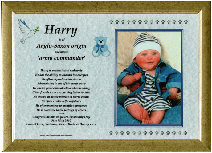 Christening Gift - Photomount