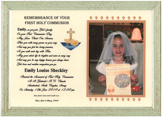Religious Occasions First Holy Communion Gift