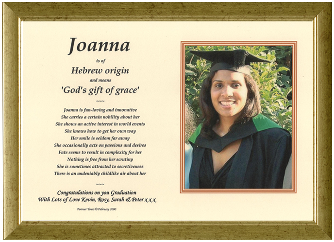 Graduation  Gift - Photomount